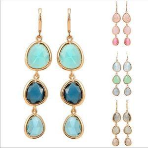 Rhinestone party dangle earrings